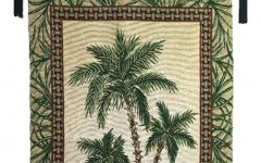 Blended Fabric Palm Tree Wall Hangings