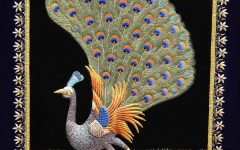 Jeweled Peacock Wall Art