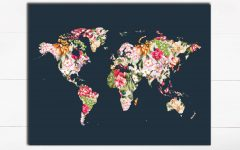 World Map Wall Art Print