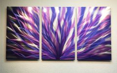 Purple Metal Wall Art