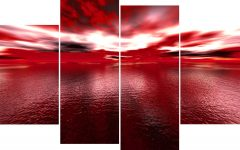 Large Red Canvas Wall Art