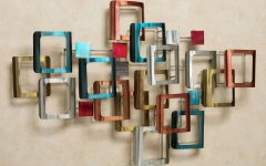 Contemporary Metal Wall Art Sculpture