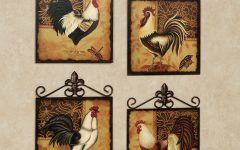 Metal Rooster Wall Decor