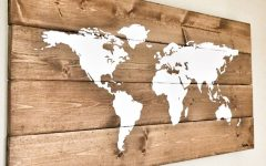 Wood Map Wall Art