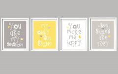 Yellow and Grey Wall Art