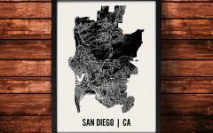 San Diego Map Wall Art
