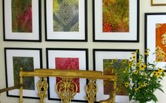 Batik Fabric Wall Art
