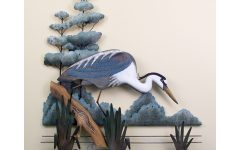 Blue Heron Metal Wall Art