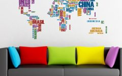 Vinyl Wall Art World Map