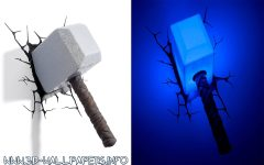 3D Wall Art Thor Hammer Night Light