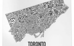 Toronto Map Wall Art