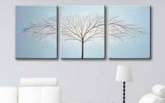 Blue and Cream Wall Art