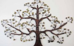 Metal Oak Tree Wall Art