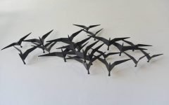 Birds In Flight Metal Wall Art