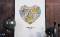 Personalized Map Wall Art
