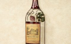 Wine Bottle Metal Wall Art