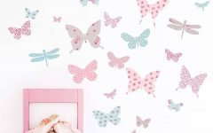 Fabric Butterfly Wall Art
