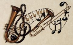 Musical Instruments Metal Wall Art