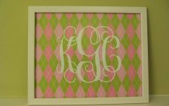Framed Monogram Wall Art