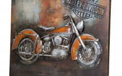 Motorcycle Metal Wall Art