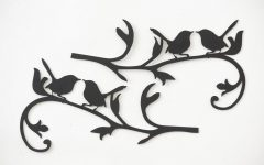 Birds On A Branch Metal Wall Art