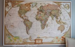 Framed World Map Wall Art