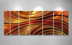 Orange Metal Wall Art