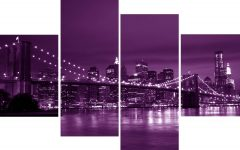 Purple Wall Art Canvas