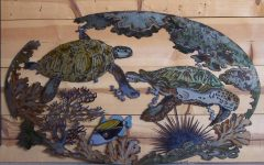 Turtle Metal Wall Art