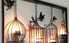 Metal Wall Art With Candle Holders