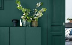 Olive Green Abstract Wall Art
