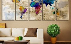 Large Modern Fabric Wall Art