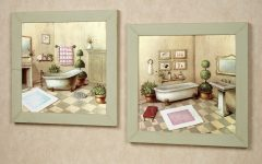 Vintage Bath Framed Art Prints Set Of 3