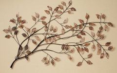 Leaves Metal Sculpture Wall Decor