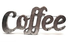 Coffee Sign with Rebar Wall Decor