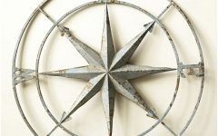 Round Compass Wall Decor