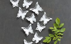 White 3d Butterfly Wall Art