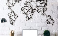 World Map for Wall Art