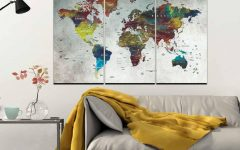 Abstract Map Wall Art