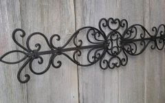 Faux Wrought Iron Wall Decors